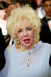 Elizabeth Taylor at the 56th International Cannes Film Festival for the screening of