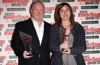 Sophie Thompson and Steve McFadden at the Inside Soap Awards.