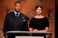Jeanne Tripplehorn and Terrence Howard at the 14th Annual Screen Actors Guild Awards Nominations Annoucement.
