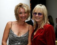 Emma Thompson and Twiggy at the after party of the Times BFI 50th London Film Festival gala screening of