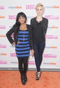 Melinda Shankar and Jordan Todosey at the premiere of