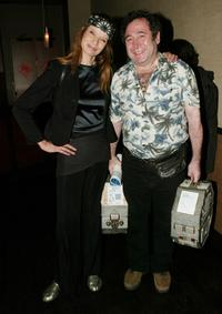 Veruschka and Guest at the special screening of
