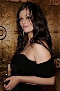 Polly Walker at the Golden Globe after party.