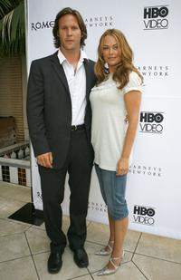 Polly Walker and Laurence Penri-Jones at a cocktail reception to celebrate the DVD release of