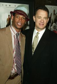 Marlon Wayans and Tom Hanks at the private screening of