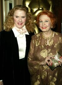 Celia Weston and Arlene Dahl at the AMPAS Official Oscar Night Celebration.