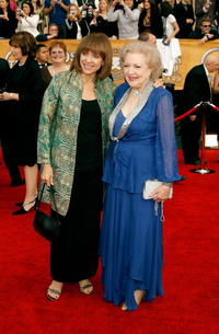 Valerie Harper and Betty White at the 13th Annual Screen Actors Guild Awards.