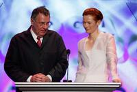 Tom Wilkinson and Tilda Swinton at the 60th annual DGA Awards.