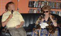 Shelley Winters and Curtis Harrington at Rocket Video for Curtis Harrington Surprise Party.