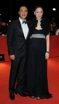 Simon Yam and Kyky at the premiere of