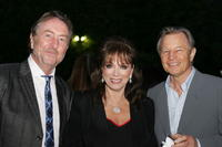 Eric Idle, Jackie Collins and Michael York at the launch party for BritWeek.