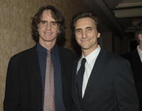 Lawrence Bender and Jay Roach at the cocktail reception during the 32nd Annual LA Film Critic's Association Awards.