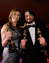 Kathryn Bigelow and Mark Boal at the 82nd Annual Academy Awards.