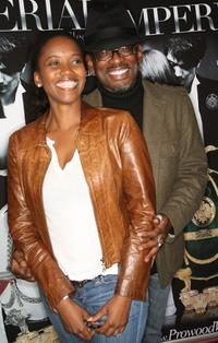 Erika Alexander and T. C. Carson at the premiere of