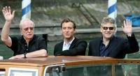 Kenneth Branagh, Michael Caine and Jude Law at the Venice Lido to give a press conference on their movie