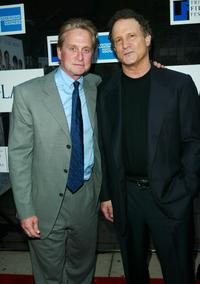 Albert Brooks and Michael Douglas at the Tribeca Film Festival at the Tribeca Performing Arts Center for world premiere of