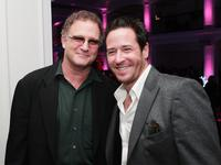 Albert Brooks and Rob Morrow at Boulevard for afterparty at the premiere of Warner Bros.