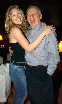 Mel Brooks and Jane Krakowski at Steven Webers party for his last performance of
