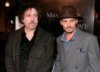 Tim Burton and Johnny Depp at the special screening of