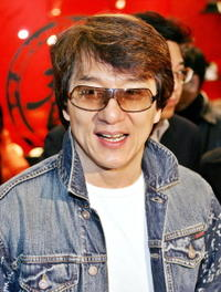 Jackie Chan at the International Fashion Fair in Tokyo.