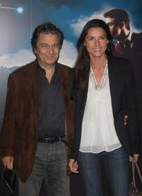 Christian Clavier and Isabelle at the premiere of