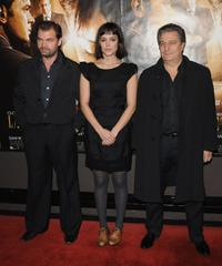 Clovis Cornillac, Vimala Pons and Christian Clavier at the Paris premiere of