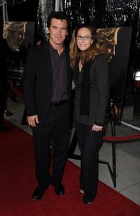 Josh Brolin and Diane Lane at the premiere of