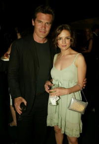 "Josh Brolin and Rachael Leigh Cook at the after party for the premiere of ""Into the West"" at the Museum of Natural History in New York City."
