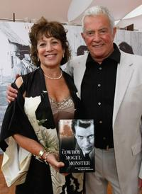Linda Schreyer and Mark Damon at the Mark Damon Book party during the 61st International Cannes Film Festival.