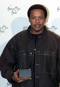 Dr. Dre at the 28th Annual American Music Awards.