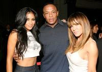 Nicole Scherzinger, Dr. Dre and Robin Antin at the Mercedes-Benz Fashion Week.