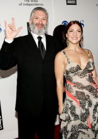 Harvey Fierstein and Guest at the 59th Annual Tony Awards.