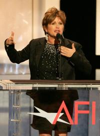 Carrie Fisher at the 33rd AFI Life Achievement Award tribute to George Lucas.