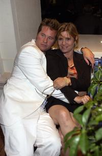 Carrie Fisher and Val Kilmer at the after-party for premiere of