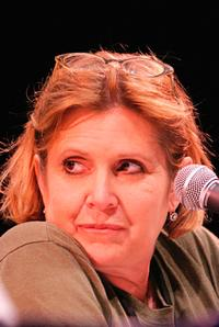 Carrie Fisher at the Times Festival of Books.