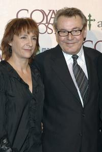 Milos Forman and Blanca Portill at the Madrid premiere of