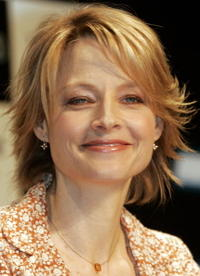 Jodie Foster promoting
