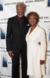 Actor Morgan Freeman and actress Alfre Woodward at the Los Angeles Dream Dinner, benefiting the Martin Luther King Jr., National Memorial.