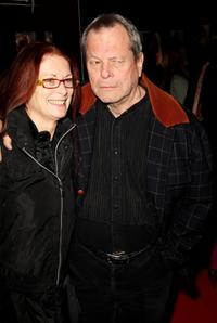 Terry Gilliam and guest at the premiere of