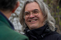 Director Paul Greengrass on the set of