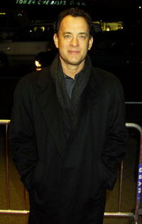 """Tom Hanks at the premiere of """"Cast Away"""" in New York City."""