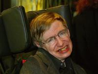 Stephen Hawking at the European premiere of