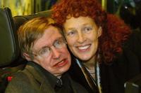 Stephen Hawking and his wife Elaine Mason at the European premiere of