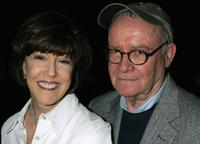Buck Henry and Nora Ephron at the 101 Greatest Screenplays gala reception at the Writers Guild Theater.