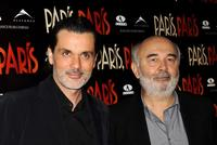 Christophe Barratier and Gerard Jugnot at the premiere of
