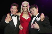 Tom Burlinson, Chloe Dallimore and Reg Livermore at the photocall of