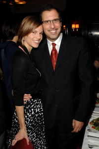 Hillary Swank and Richard LaGravenese at the luncheon of
