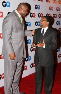 Spike Lee and Earvin Magic Johnson, Jr. at the GQ magazine 2006 Men of the Year dinner.