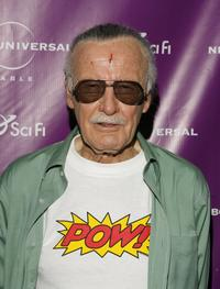 Stan Lee at the Sci-Fi Channel's Comic-Con party.