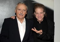 Dennis Hopper and Richard Lewis at the private opening of Dennis Hopper's